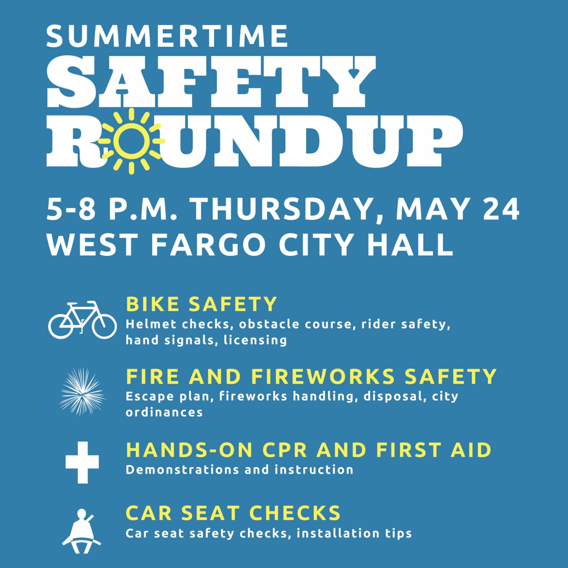 Summertime Safety Roundup Poster