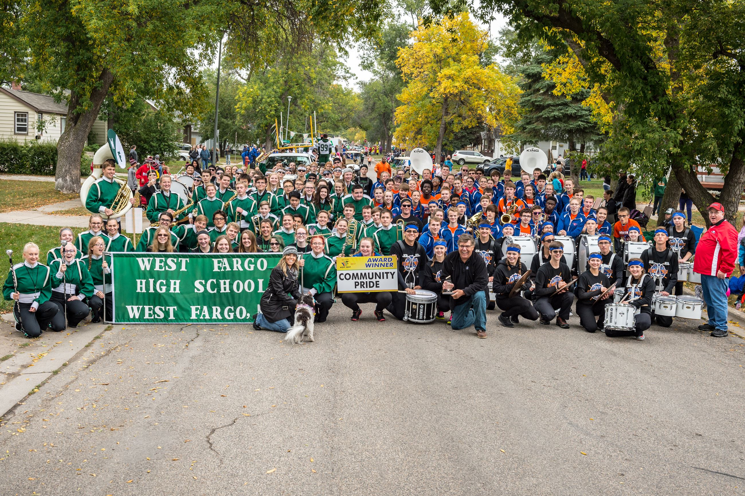 2017 Community Pride - Sheyenne High School Marching Band and West Fargo High School Marching Band