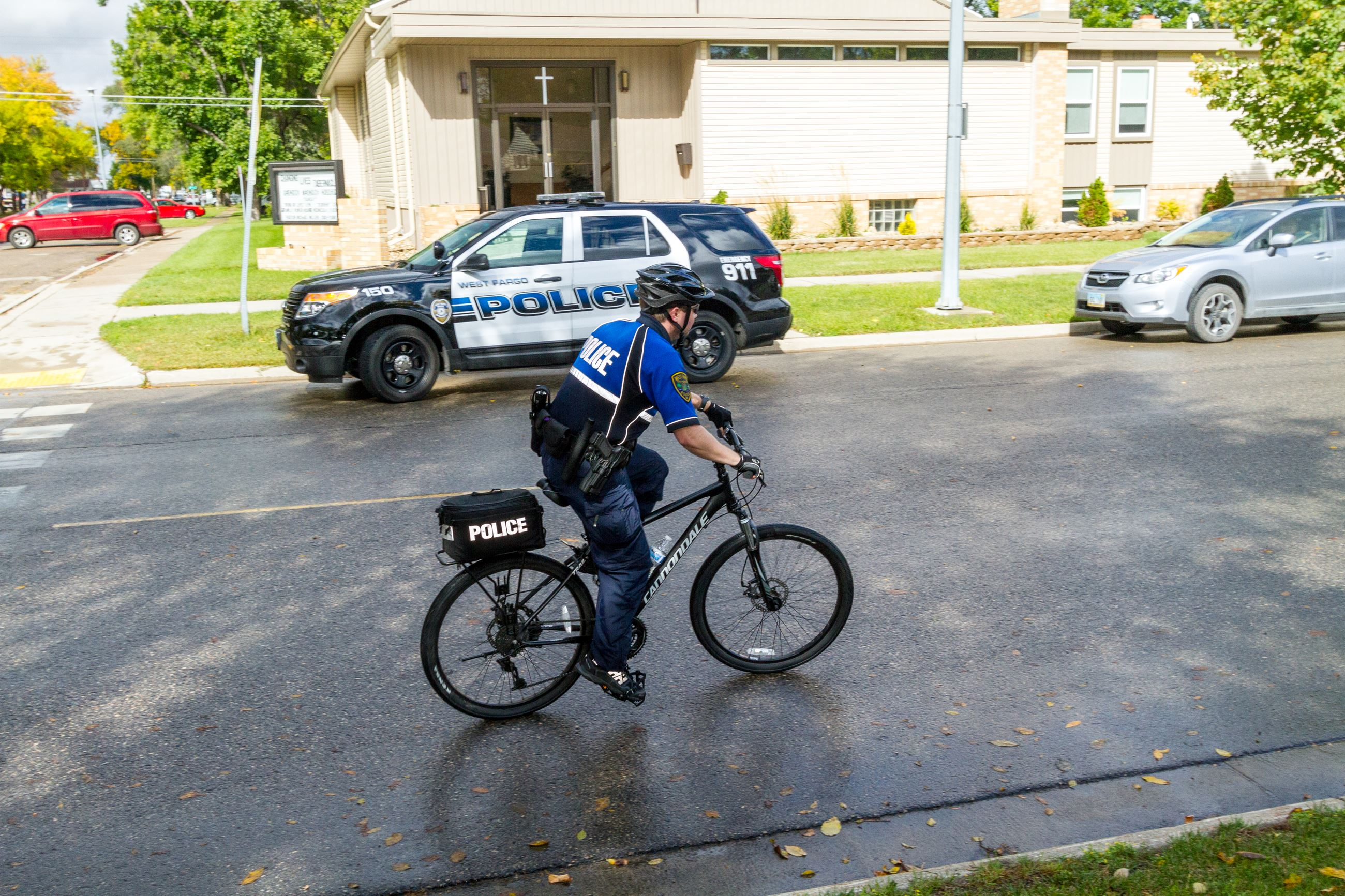 West Fargo Police Department bike patrols