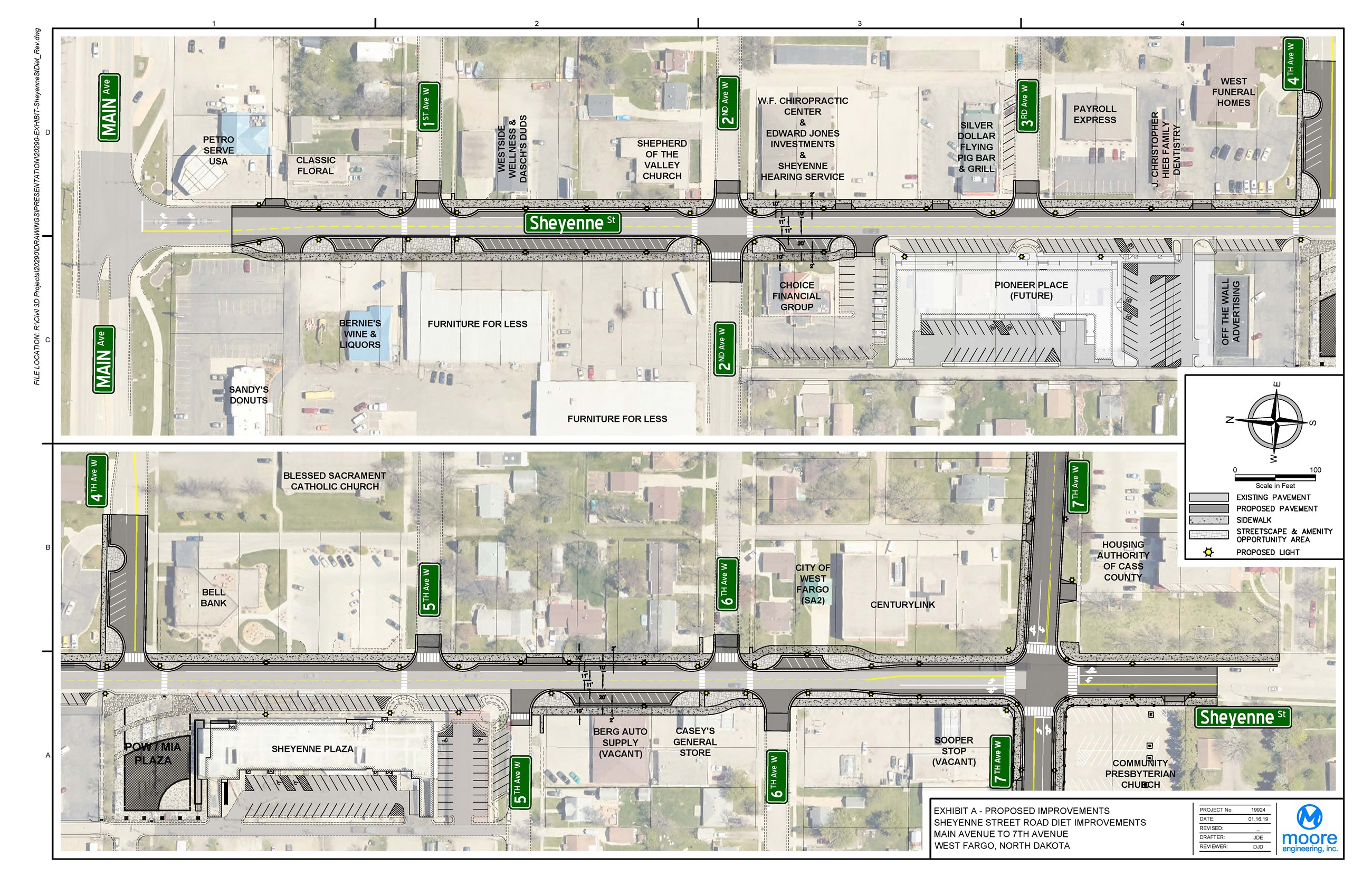 Proposed Sheyenne Street Urban Reconstruction Design