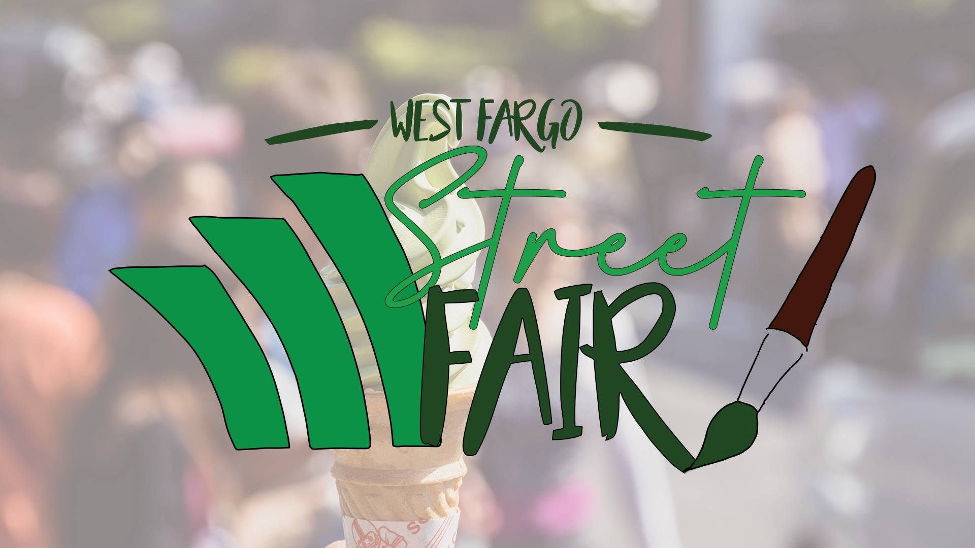 Street Fair logo with ice cream cone background