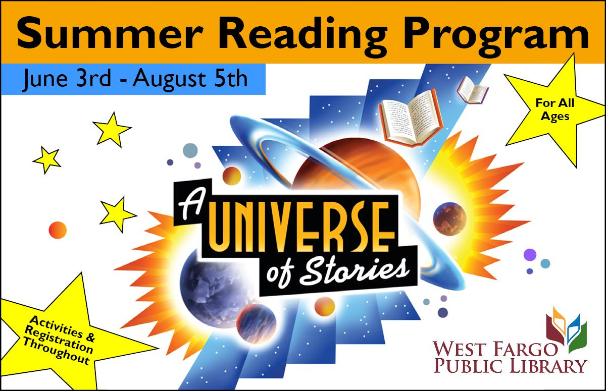 Summer Reading Program June 3rd-August 5th