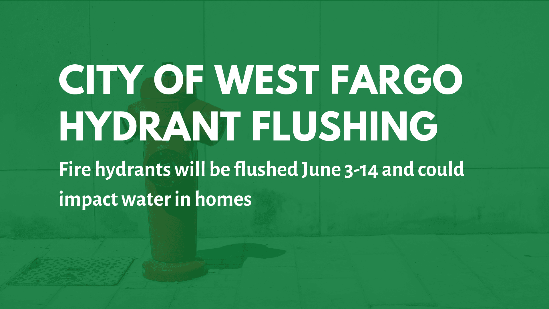 Spring fire hydrant flushing begins June 3