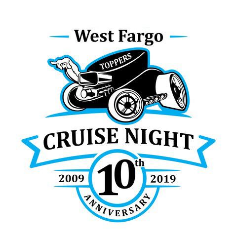 10th anniversary cruise night logo