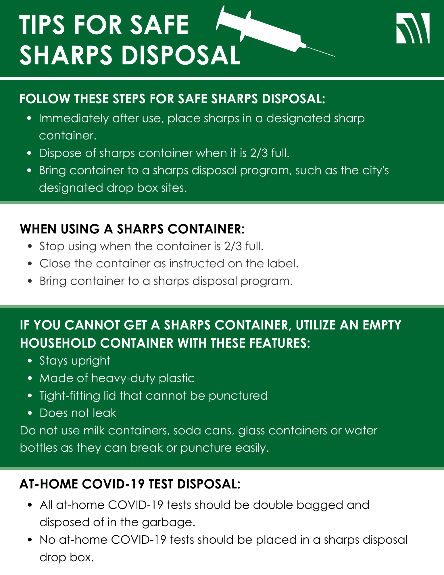 11 tips for safe sharps disposal image