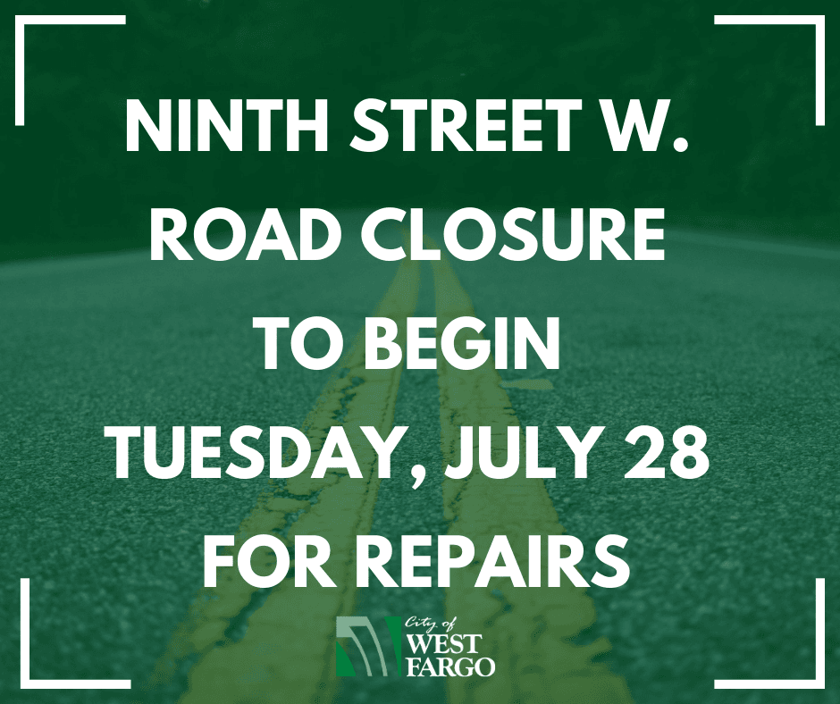 Ninth street W. road closure to begin Tuesday, July 28 for repairs