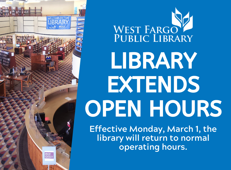 Library Extends Open Hours