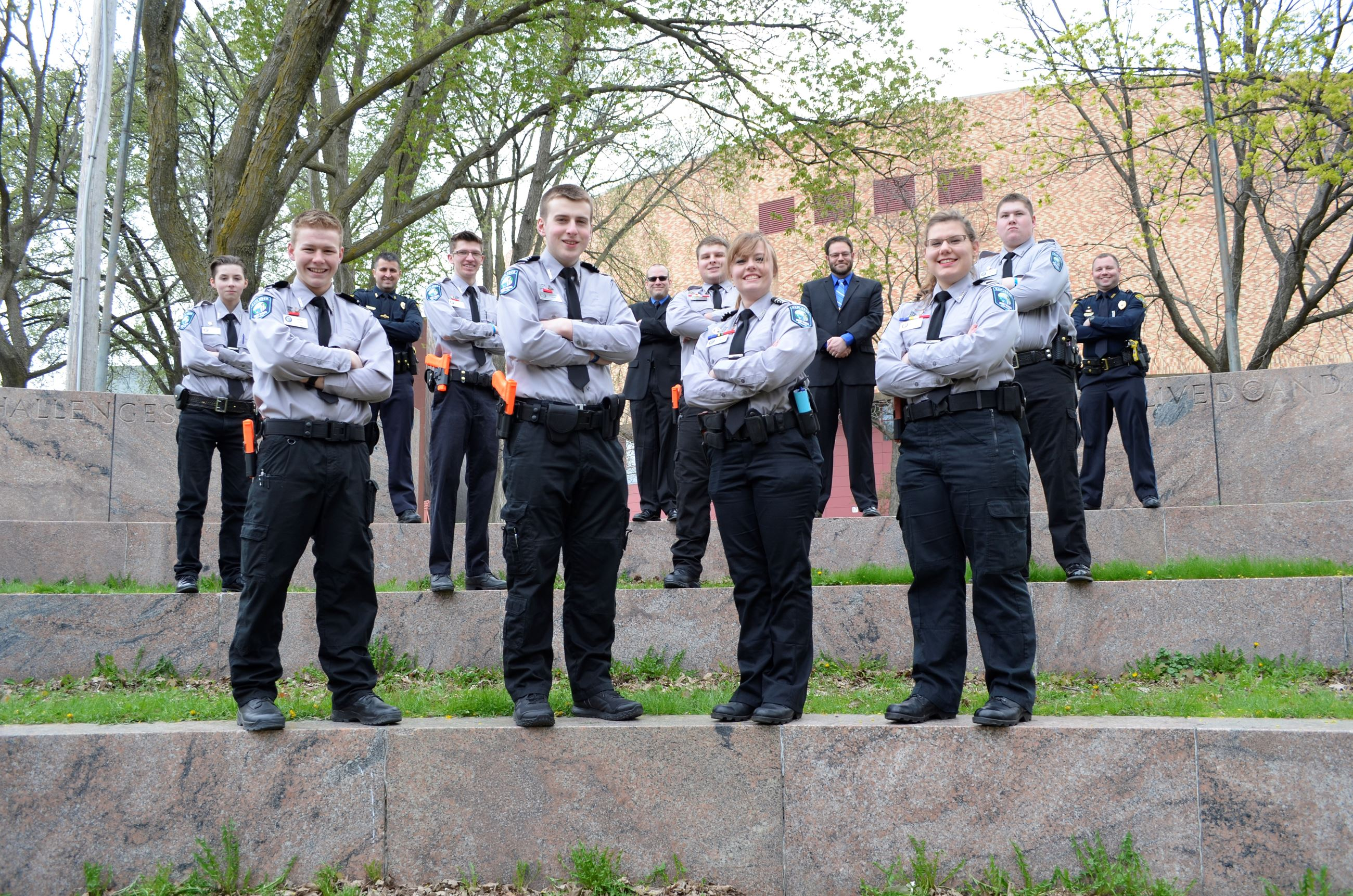 West Fargo Police Explorers at the Minnesota Law Enforcement Explorer's Association's Conferen
